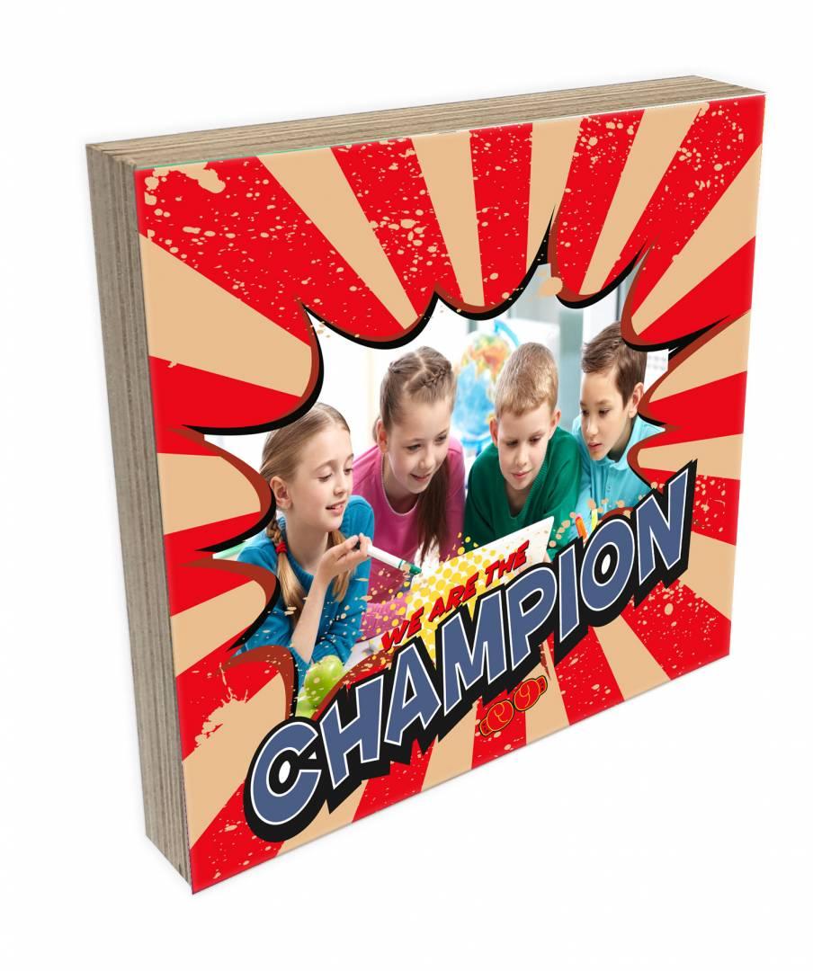 קינג פוטובלוק-בלוק עץ תמונה דגם champion