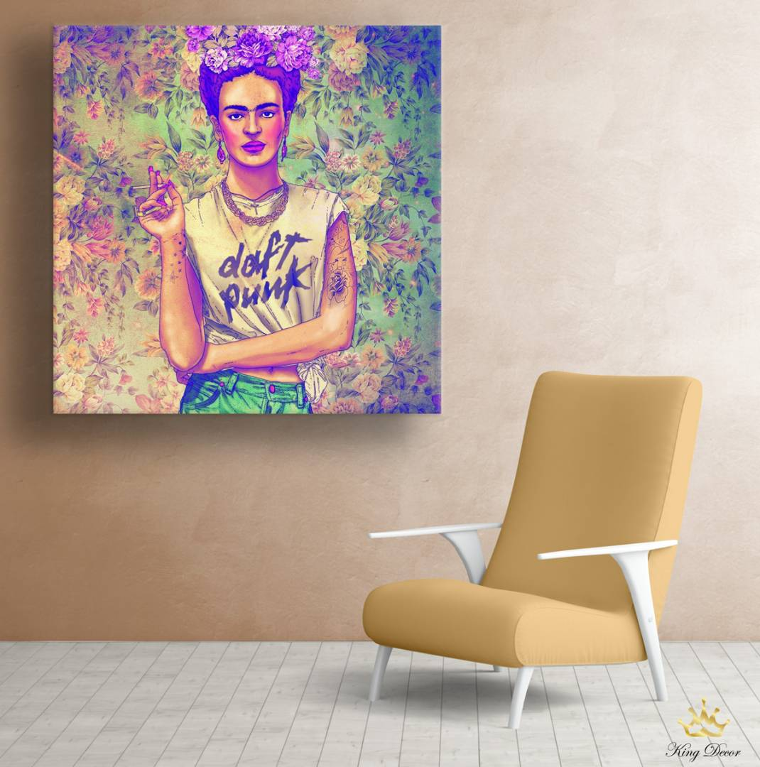 """תמונת קנבס """"FRIDA POP"""" פרידה קאלו"""