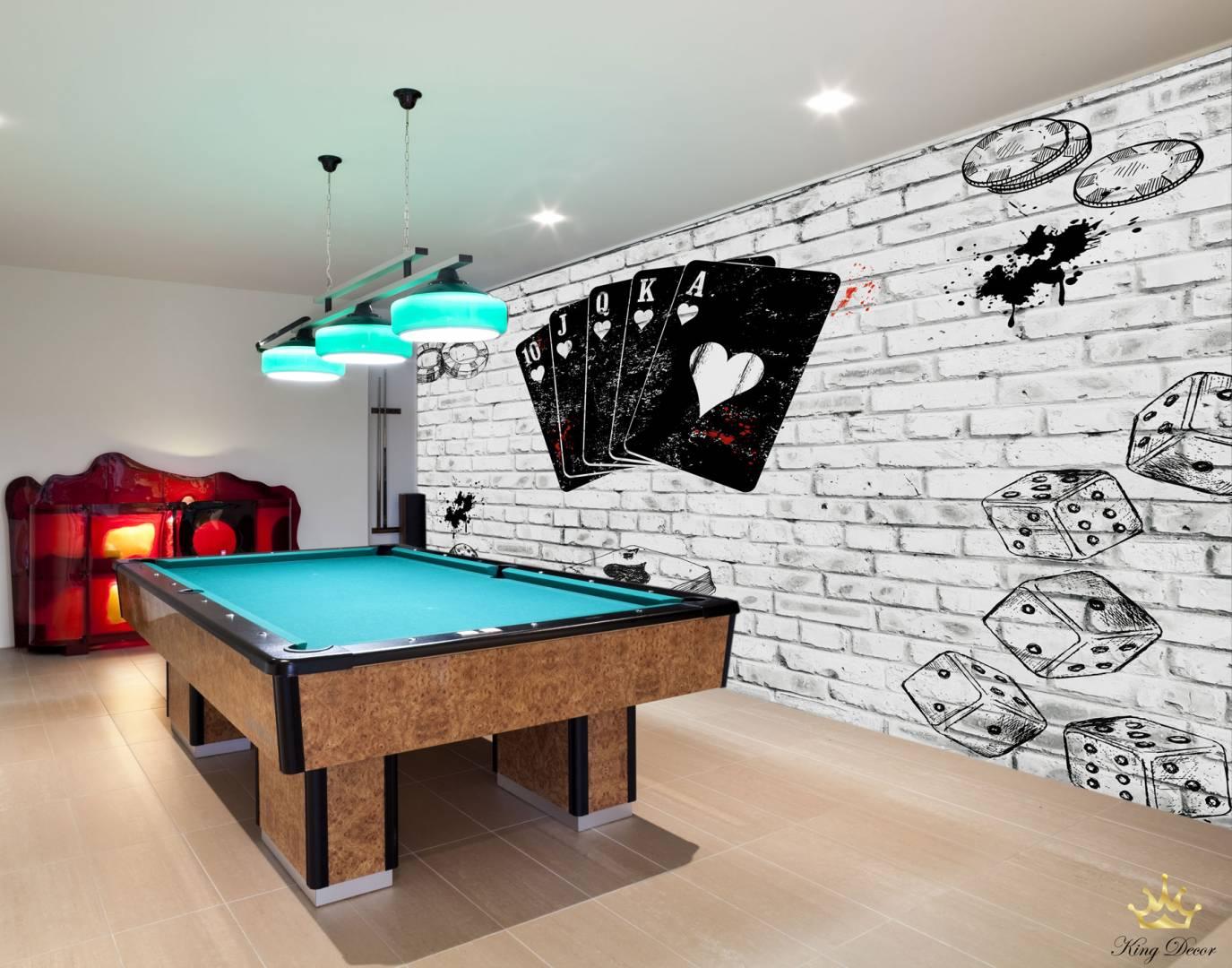 טפט POKER ROOM לחדר משחקים